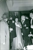 Princess Soraya of Iran standing together with another people