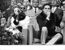 Lamia Al Solh and Prince Moulay Abdallah of Morocco sitting.
