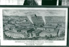 "A painting with the motif of ""Åtvidabergs Förenade Industrier Aktiebolaget"""