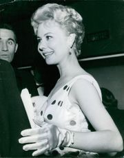 Mitzi Gaynor seen at the Cannes Film Festival.
