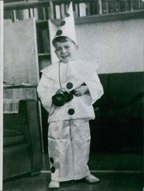 A kid wearing a costume. April 22, 1966