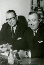 Portrait image of the commentators Tore Demnert and Brother Garpendahl taken in an unknown context.