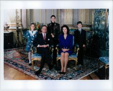 The royal family gathered for the traditional Christmas picture at Stockholm Castle