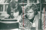 "Dustin Hoffman and Robert Redford in Alan J. Pakula's ""All Presidents Men""."