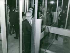 The third Secretary-General of the United Nations, U Thant entering the building.