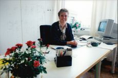 Portrait of Ann-Christine Dellham Carlén, President of Imedia AB, at his desk