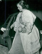 Miss Marie Lou von Stedingk arrives at the Royal Palace for the celebration of Princess Birgitta's 21st birthday