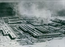 A view of the Orinoco Steel Plant, the giant concern recently nationalized by the Venezuelan Government, 1975.