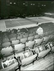 Almost empty blanket under the Stockholm Open 1988