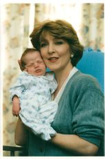 Patricia Hodge with her Baby son.