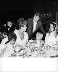 Michael Landon enjoying with his family.