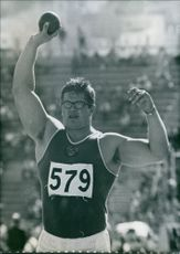 A photograph of Edward Gushchin. Russian athletes.
