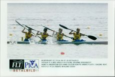 OS in Atlanta 1996. Sweden K-4 with Ingela Ericsson, Susanne Rosenqvist, Agneta Andersson and Anna Olsson came second