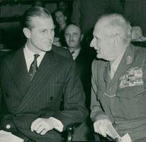 Field Marshal Montgomery interprets with a man