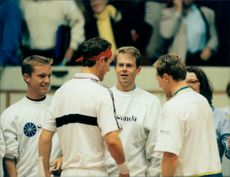 Davis Cup Sweden - Italy: Stefan Edberg was included during the matches and supported the Swedish team