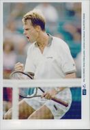 Stefan Edberg during the match against Henman in the US Open 1996