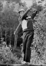 Portrait of the golfer Anders Forsbrand in action