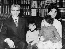 Mohammad Reza Pahlavi, wife Farah, and their children Reza and Farahnaz.  - Oct 1967