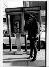 There are plenty of phone kiosks in New York City.