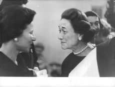 Wallis, Duchess of Windsor looking amused.