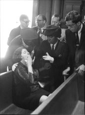 """A woman crying badly on funeral of Robert Francis """"Bobby"""" Kennedy."""