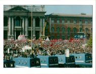 Italy Demonstrations: A view of St. John Lateran Square.