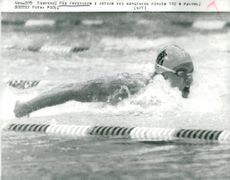 Pär Arvidsson in action when attempting 100 m butterfly