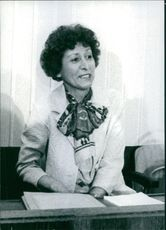 Portrait of Christel Guillaume on a West Germany's Government Spy Case. 1975