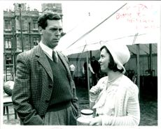 Hugh Laurie with Charlotte Attenborough.