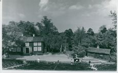 The open air theater with Stor-Svens and Jan Hansson's cabins