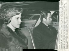 King Konstantin and Queen Anne-Marie of Greece arrive at the hospital in Copenhagen to visit King Frederik