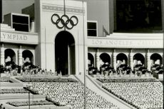 OS in Los Angeles 1984. From the opening ceremony of the Los Angeles Memorial Coliseum