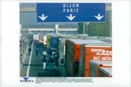 French truck drivers block the A1 highway near Lyon