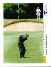 Golf player Mats Lanner at the 11th hole at the Wentworth Golf Club during the Volvo PGA 1995