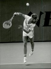 Tennis player Mats Wilander during Davis Cup 1982