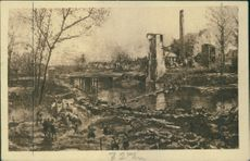 Bastien's 'Panorama of the Battle of the Yser in 1914.Dixmude.  The Corn mill and the Yser.