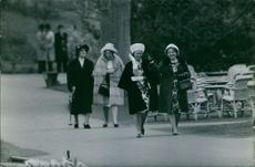 Princess Beatrix of the Netherlands together with other members of the Royal Family.