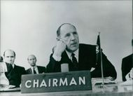 Dr. Joseph Luns, Secretary General of NATO since October 1st 1971. Formerly the Dutch Foreign Minister.