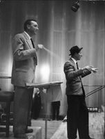 Danny Kaye with conductor.