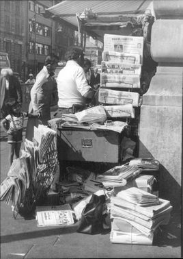 Newsstand in London