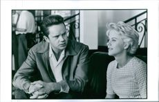 """Tim Robbins and Meg Ryan in a scene from a 1994 American romantic comedy film, """"I.Q."""""""