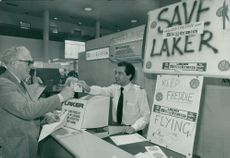 A tenner for the Save Laker Campaign.