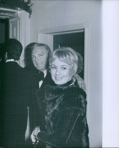 Shirley Mae Jones and Jack Cassidy stands together.