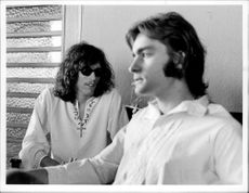 Jorma Kaukonen and Marty Balin from the rock band Jefferson Airplane on Stockholm visit