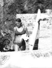 Princess Irene of the Netherlands going for a swim.