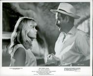 "Actors Hayley Mills and Eli Wallach in the movie ""Night Without Moon"""