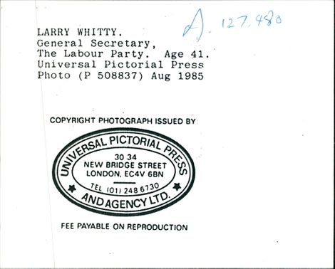 Larry Whitty.