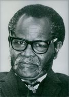 South African Nationalist Leader, Oliver Tambo. 1986.