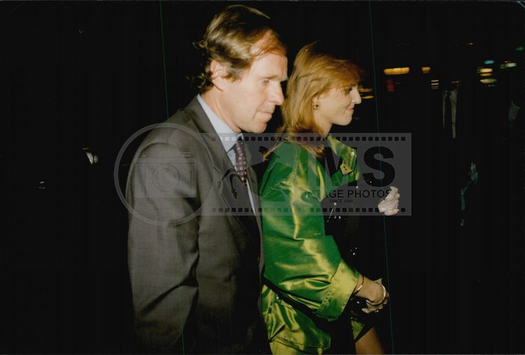 Fergie with the tennis player Wojtek Fibak arrives at the nightclub Les Bains Douches in Paris