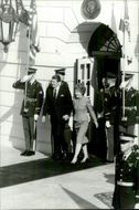 US President Ronald Reagan with his wife Nancy on Via House
